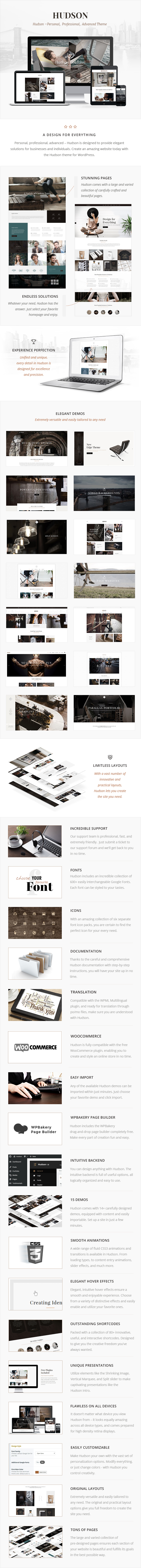 Hudson - Stylish Business Theme - 1