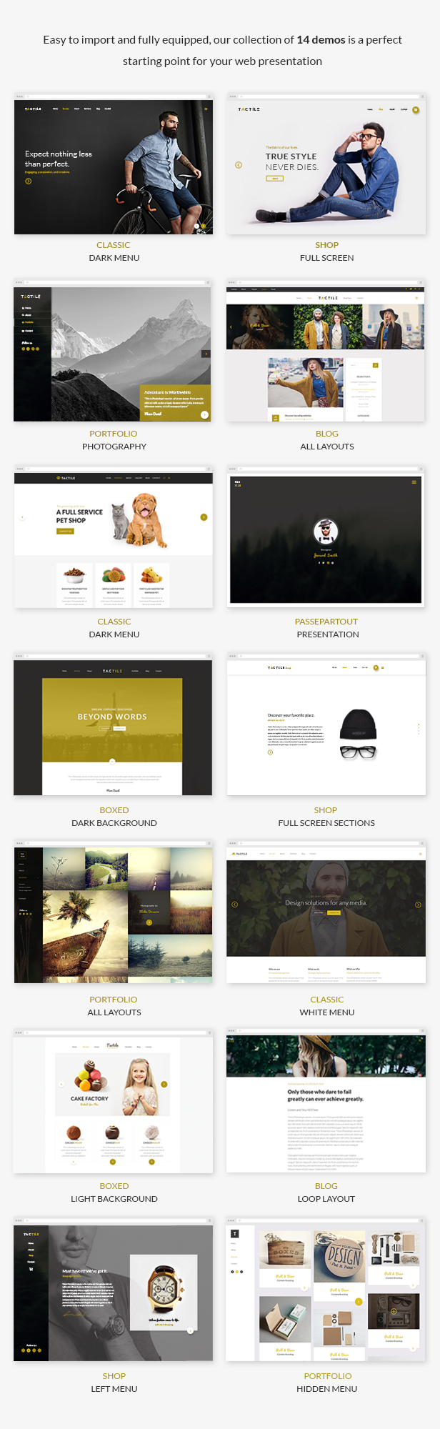 Tactile - Multipurpose Theme - 1