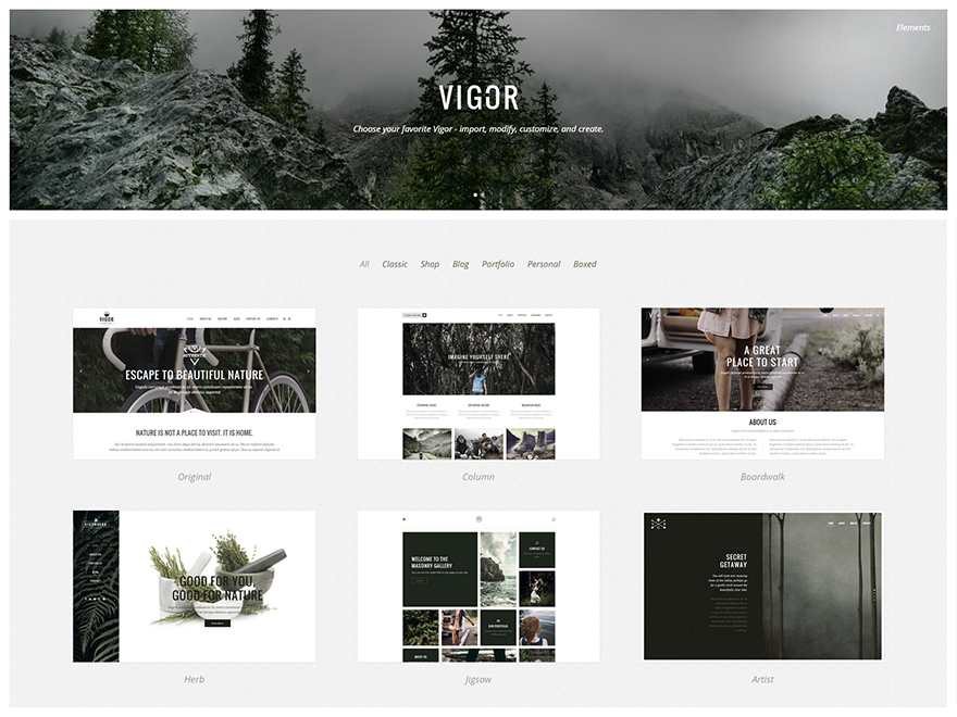 Vigor - A Fresh Multi Concept Theme